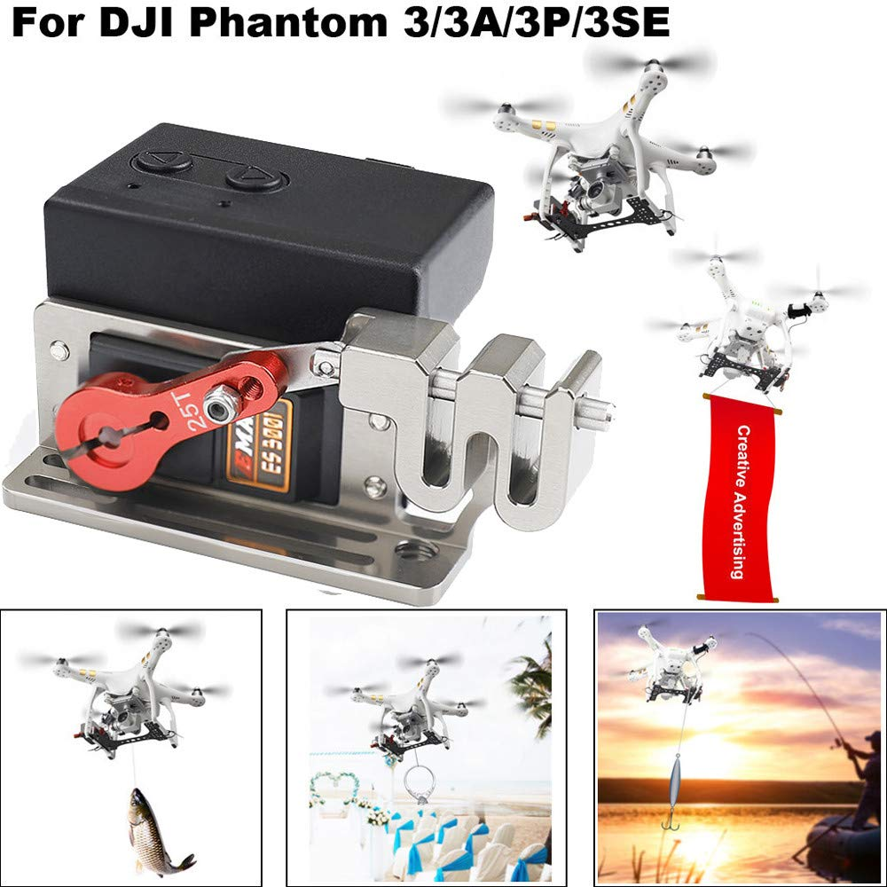 Upgraded Double Release Thrower Servo for DJI Phantom 3/ 3Pro, Release Fishing Bait Wedding Proposal Drone Delivery Device Thrower Servo Controlled Dropper Device (♥ Multicolor) by Hisoul (Image #2)