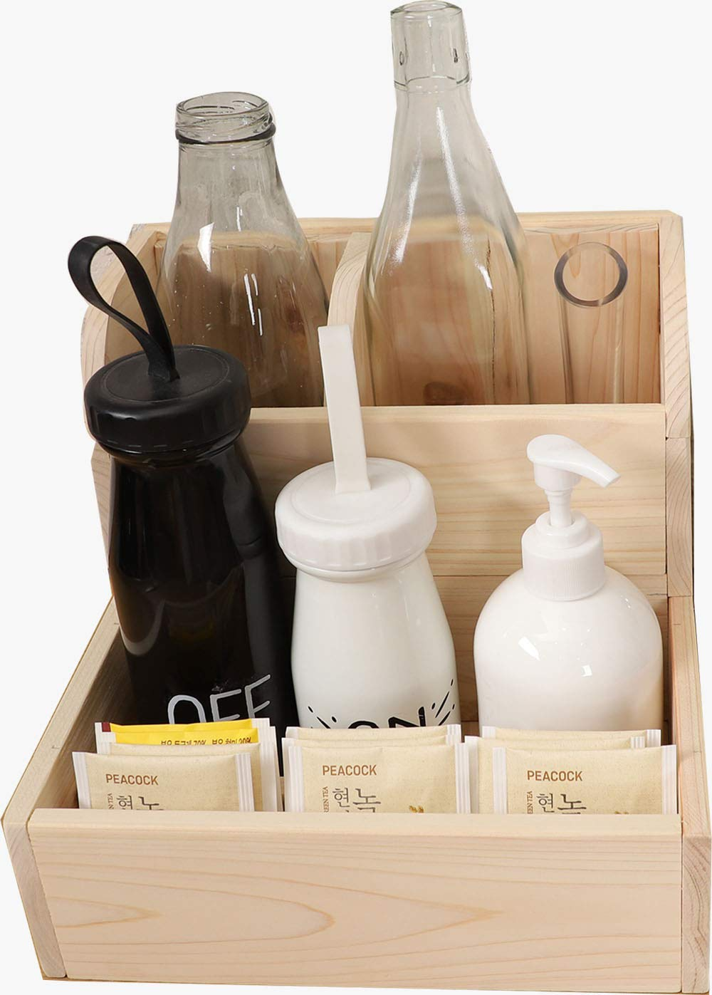 Eco-friendly hinoki wooden kitchen utensil holder | Wood splitters for furniture and kitchen utensils made of hinoki wood by WOODYDADDY