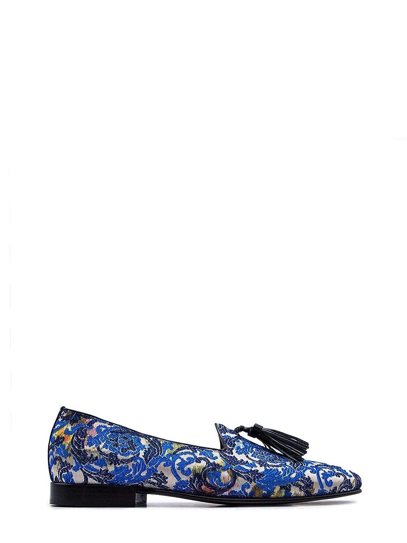 - LEQARANT Men's 7002TUCSONblue bluee Leather Loafers