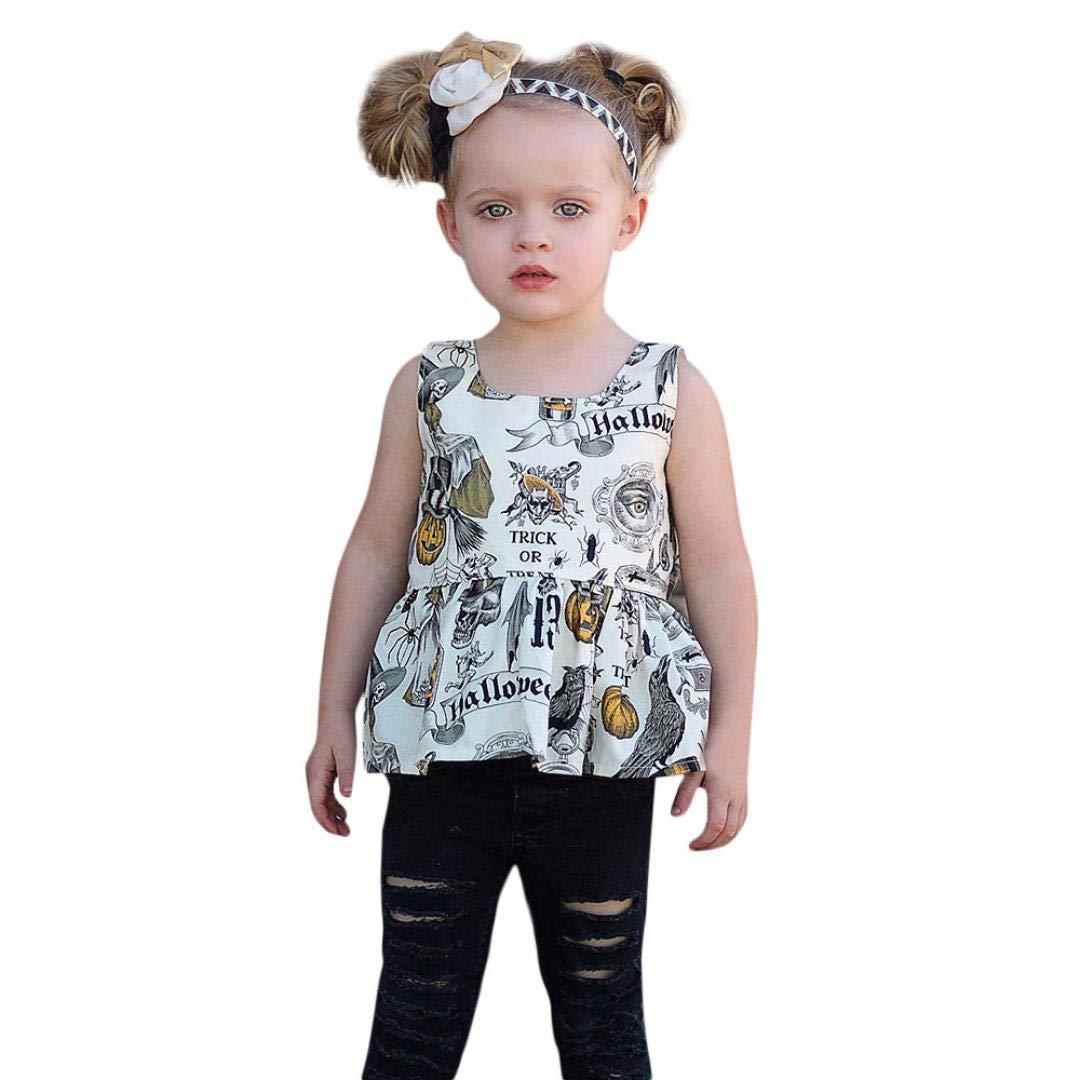 Memela Baby Clothes,Baby Girl Pumpkin T-Shirt Tops Shorts Pants Halloween Clothes Set