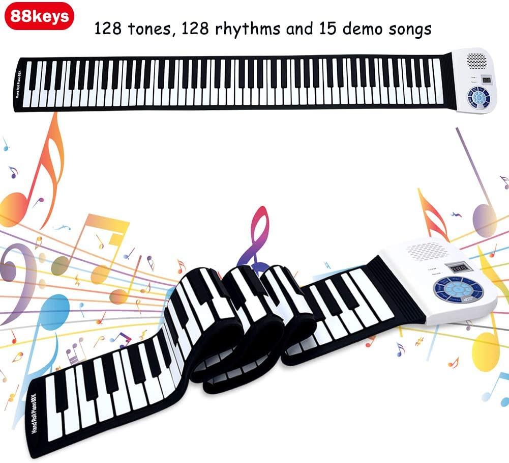 Musical Instruments Keyboards Portable Electric Roll Up 88 Keys ...