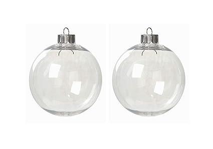 Amazon.com: Kanonaki Case of 32 Clear Plastic Round Ball Ornaments ...