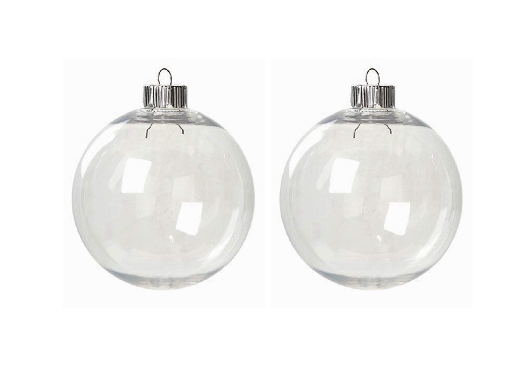 goldblue Clear Plastic Round Ball Ornaments (Clear NO,1)