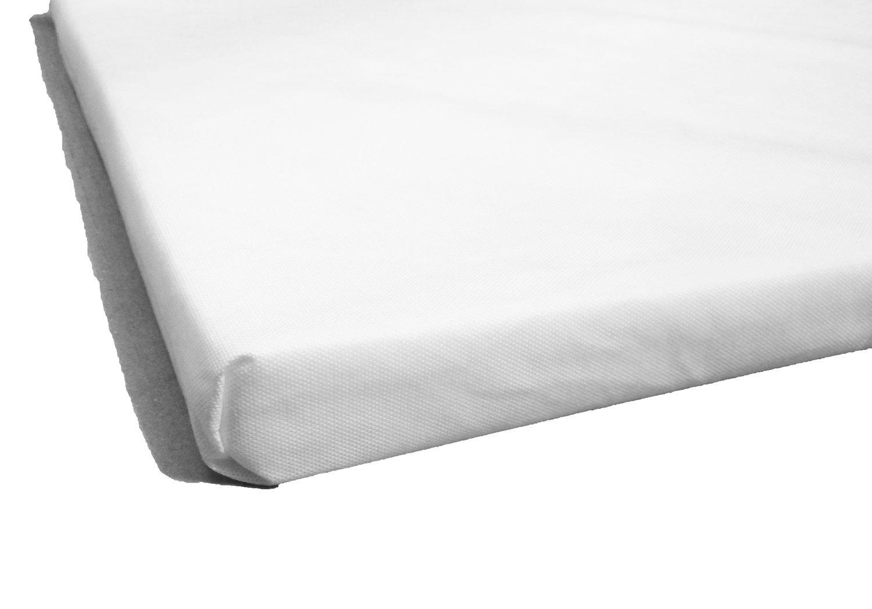 LAURA/® 104 x 71 cm Travel Cot Mattress 5cm Thick BRITISH MADE With High Grade Density Foam CMHR28