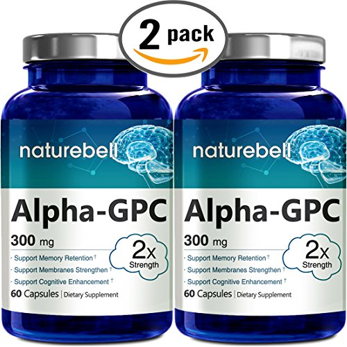 Premium Alpha Gpc Choline Supplement  Pharmaceutical Grade  Made In Usa  60 Capsules 300Mg   Pack Of 2