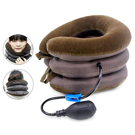 Amazon.com: MG554zy0 Almohada de tracción cervical inflable ...