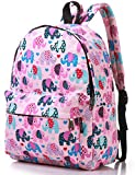 Canvas Travel School Backpack for Women Girls Boys Teens Kids Children (Elephant Pink Medium)