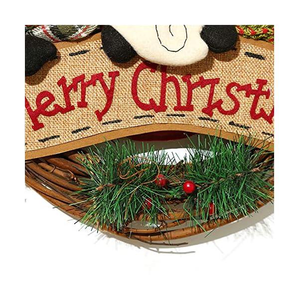 XONOR Corona di Natale per Porta d'ingresso, ghirlande Porta 35cm Natale Decorazione della Porta della casa Porta d'auto (Reindeer Snowman Santa Claus) 4 spesavip