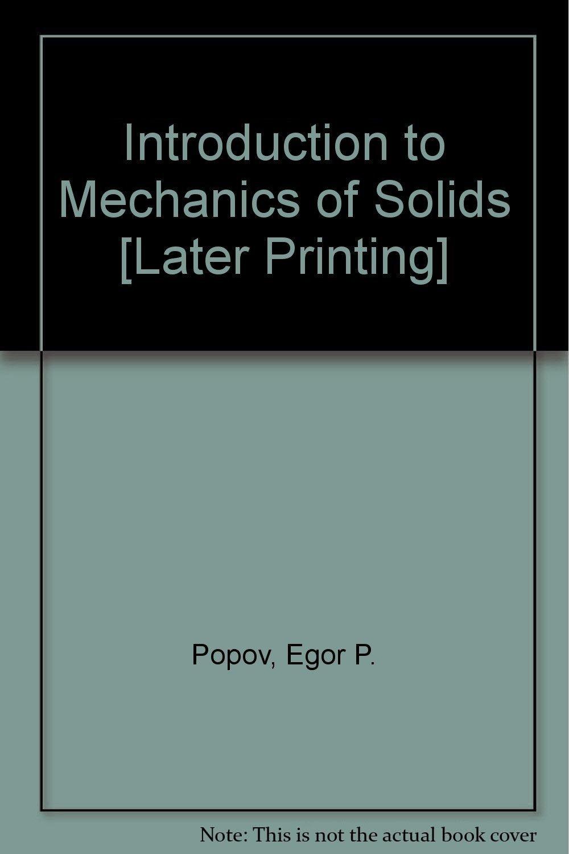 Solutions for problems [for] Introduction to mechanics of solids: E. P Popov:  8601422397864: Amazon.com: Books