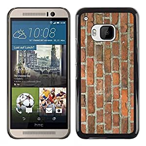 All Phone Most Case / Hard PC Metal piece Shell Slim Cover Protective Case Carcasa Funda Caso de protección para HTC One M9 Brick Wall Rustic Brown Orange Street Building