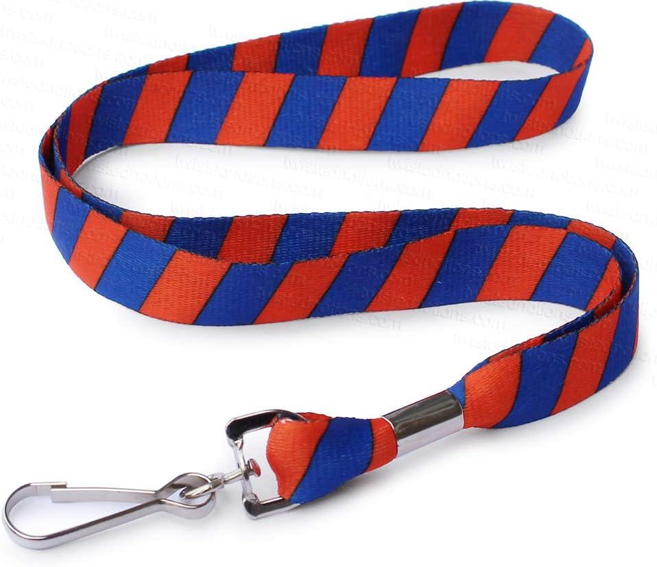 Neck Strap Lanyard Safety Breakaway For ID Name Badge Holder Keys Metal Clip PHK