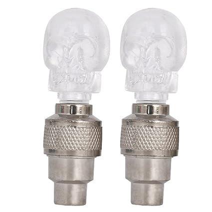 Amazon.com: DELIGHT Eshop 2pcs Válvula de calavera Stem Cap ...