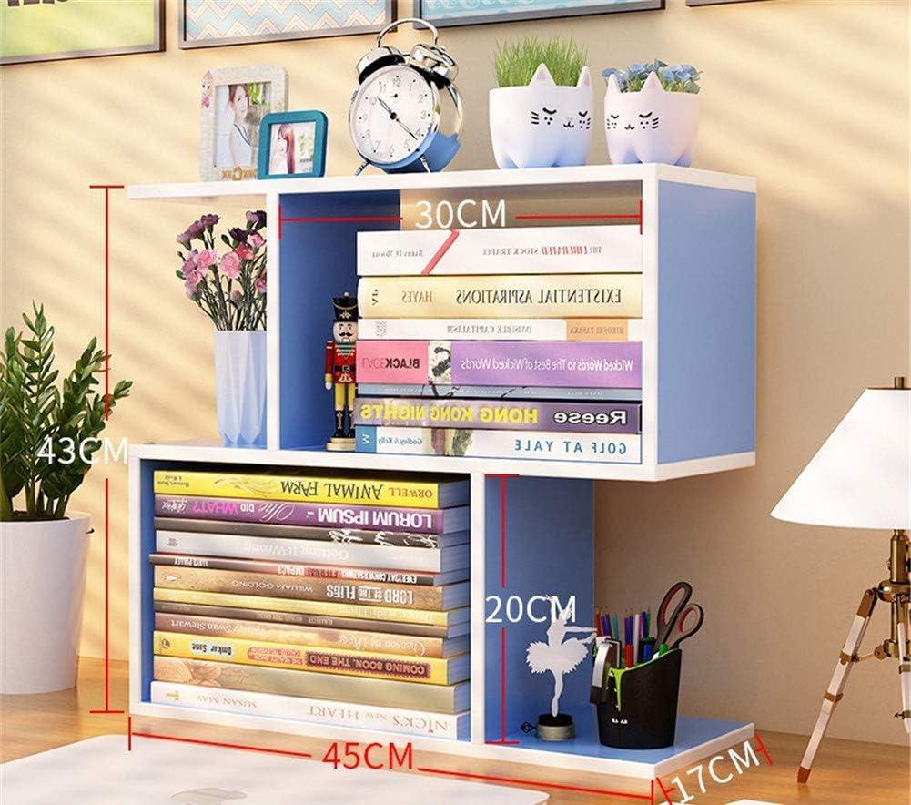 WYN Bookshelf Book Rack Simple Desktop Organizer Book Shelf bookcase Space saving Student Chird for Home and Office