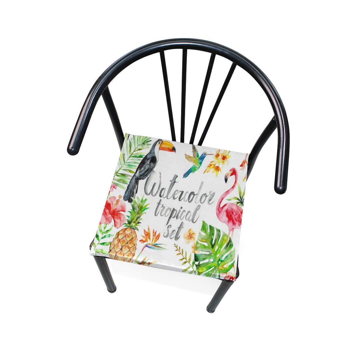 Amazon.com: Cojín para asiento de acuarela, diseño de ...