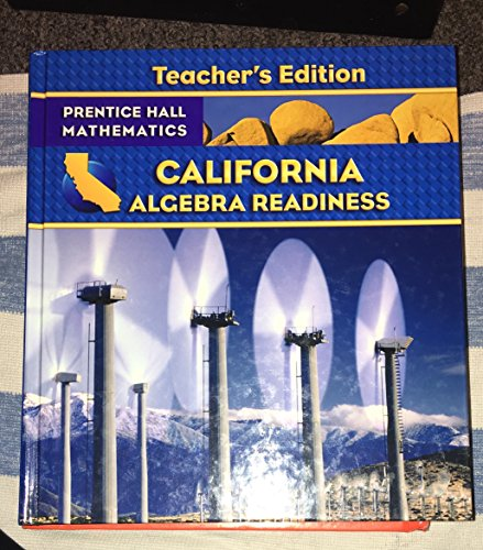 California Algebra Readiness Teacher's Edition