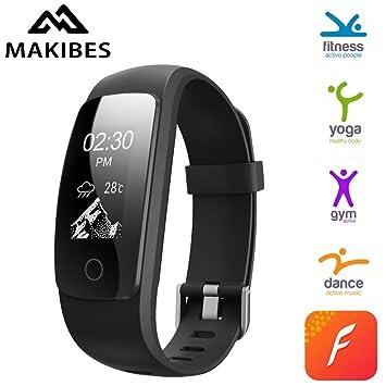 Amazon.com: Fitness Tracker Smart Wristband by Makibes, App ...