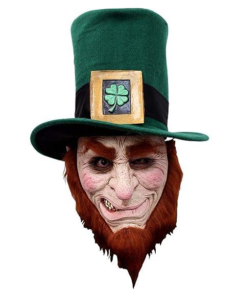 máscara Leprechaun irlandés con una barba