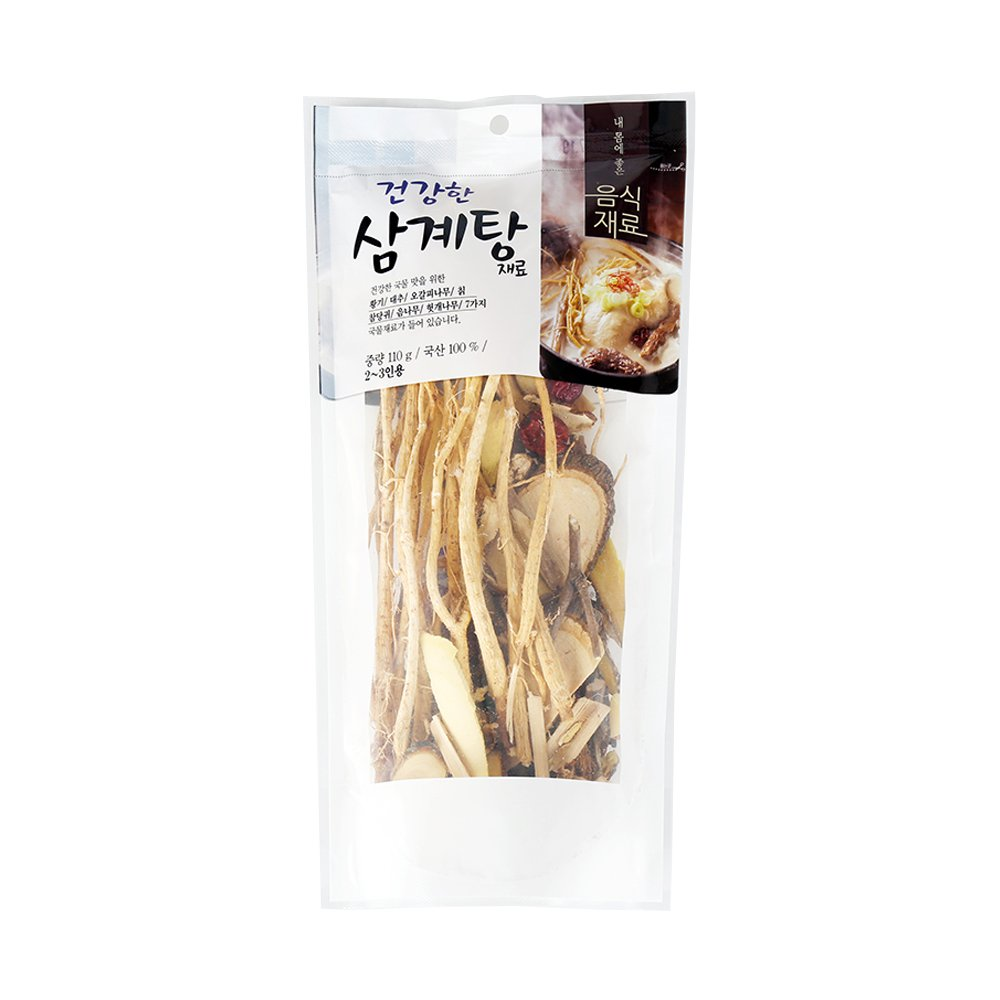 HaesongKNS Healthy Ginseng Chicken Soup material - contains 7 Soup Stock Ingredients of Healthy Soup Flavor for Traditional Korean Food, 110g by HaesongKNS