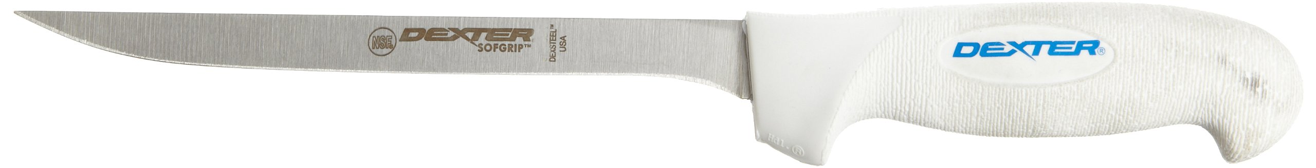 Sofgrip SG133-7-PCP 7'' Narrow Fillet Knife with Soft Rubber Grip Handle