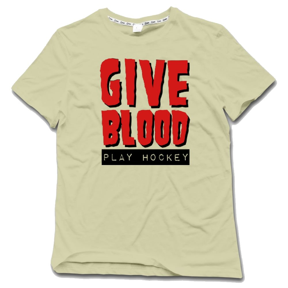 Amazon Custom Tshirts Design For Mens Give Blood Play Hockey