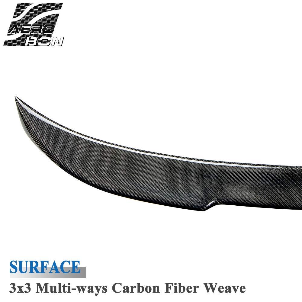 AeroBon Real Carbon Fiber Rear Trunk Spoiler For 13-18 3er F30 Sedan// F80 M3 M4 V-Style