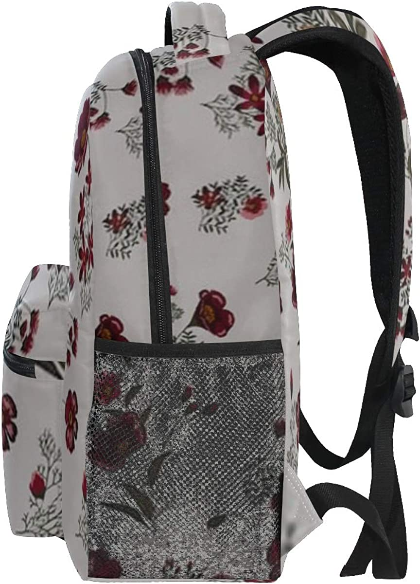 Backpack Bag Trendy Seamless Floral Pattern Vector Backpack For Women Waterproof Casual Daypacks For Young Girls