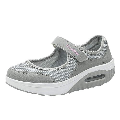Zapatillas de Deporte Blancas para Mujer, con amortiguación de Aire, Zapatillas de Verano para