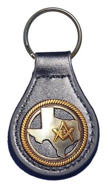 Amazon.com: Texas Mason piel Clave FOB o llavero, L, Negro ...