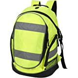 EURO HI VIS BACKPACK 3 HIGH VISIBILTY COLOURS CYCLING RUCKSACK SCHOOL BAG