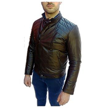 Chaqueta artesanal de hombre, modelo:Chaqueta de piel, modelo:Gomorra-marrón: Amazon.es: Coche y moto