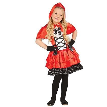Amakando Traje de Cuento para niña Disfraz Caperucita roja ...