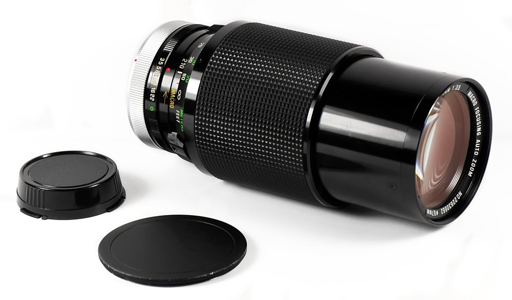 VIVITAR Series 1 VMC 70-210mm Constant F/3.5 Zoom Lens Macro Focusing for Canon FD Mount, Made by Kiron / Kino Precision in Japan