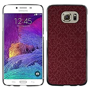 Exotic-Star ( Maroon Wallpaper Retro ) Fundas Cover Cubre Hard Case Cover para Samsung Galaxy S6 / SM-G920 / SM-G920A / SM-G920T / SM-G920F / SM-G920I