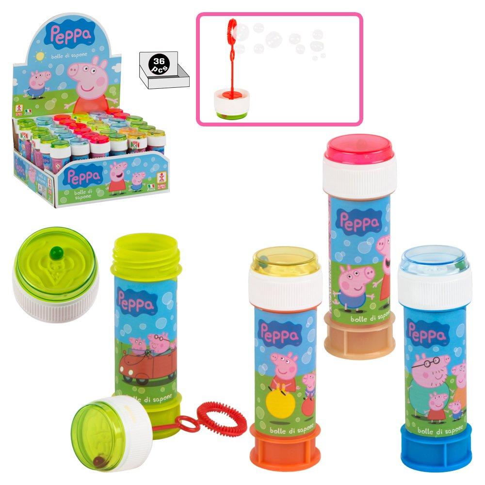 COLORBABY - Caja pomperos Peppa Pig con 36 Unidades de 60 ML (24609): Amazon.es: Juguetes y juegos