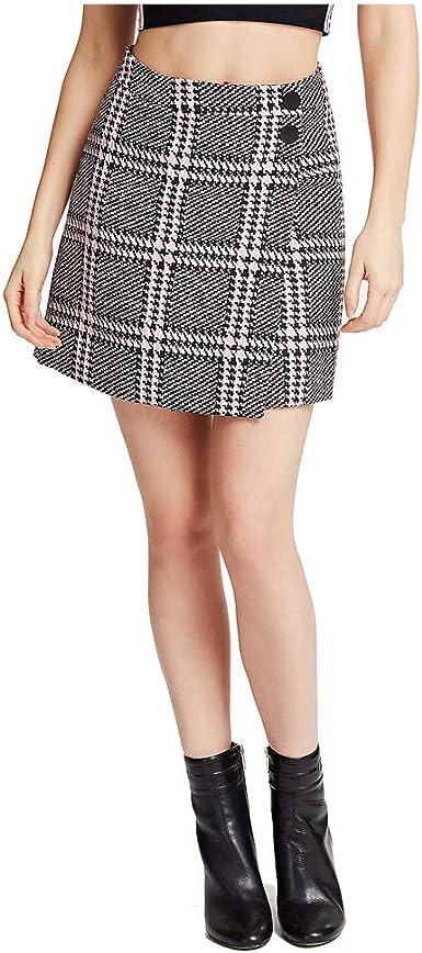 Guess - Falda de Cuadros para Mujer Rosa L: Amazon.es: Ropa y ...