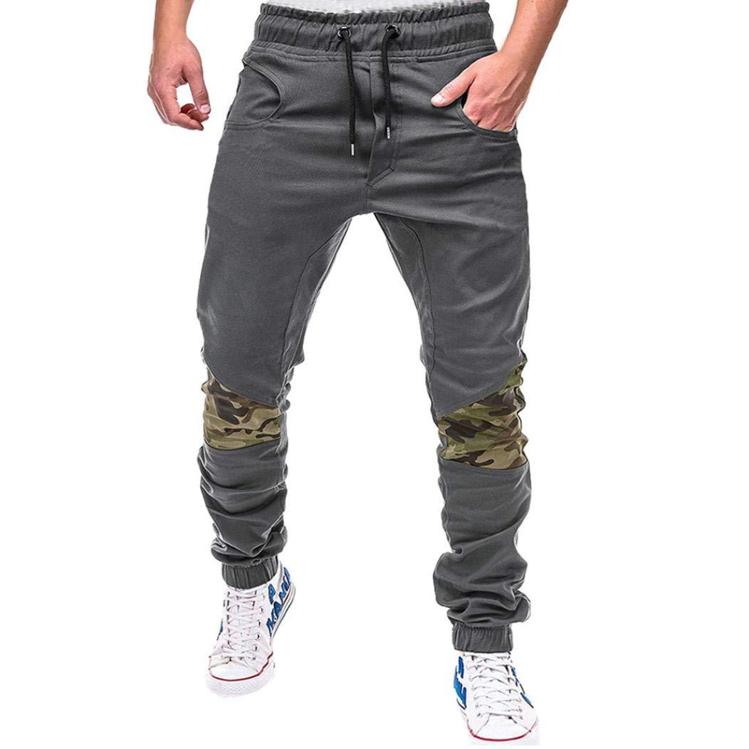 Realdo Clearance Fashion Men's Sport Fitness Belts Daily Casual Loose Drawstring Jogger Pant(Medium,Gray)