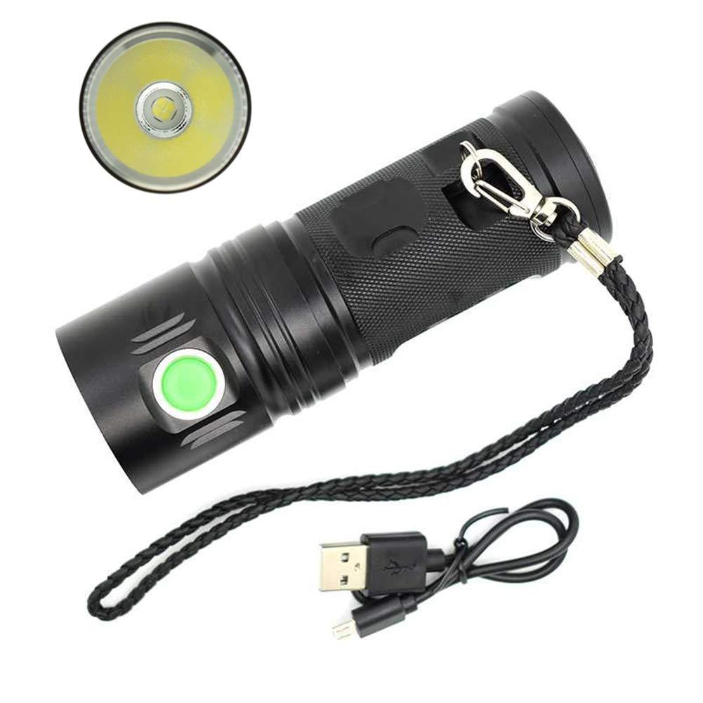 LED-Taschenlampe, WASAGA Super 3500 Lumen USB aufladbare Taschenlampe XHP70 im Freien 18650 Batterie-Taschenlampe X900 wasserdichtes Arbeitslicht