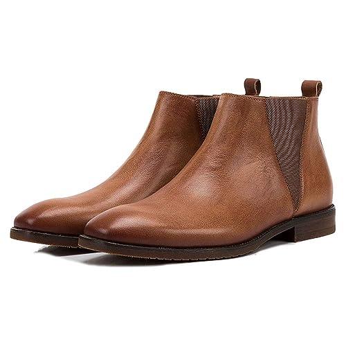 Botas Botas Chelsea De Cuero para Hombre Botines Chukka Desert Botines De Nieve para Caminar Zapatos De Trabajo: Amazon.es: Zapatos y complementos