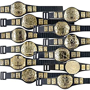 Complete Set of 12 Championship Belts for WWE Wrestling Action Figures (Series 1)