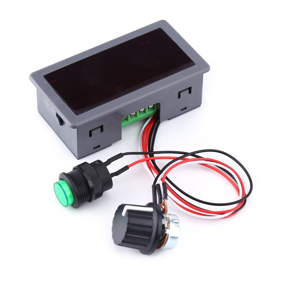 DC Motor Speed Controller PWM with Infrared Remote Controller and Digital Display DC Motor Regulator Switch 6V-24V