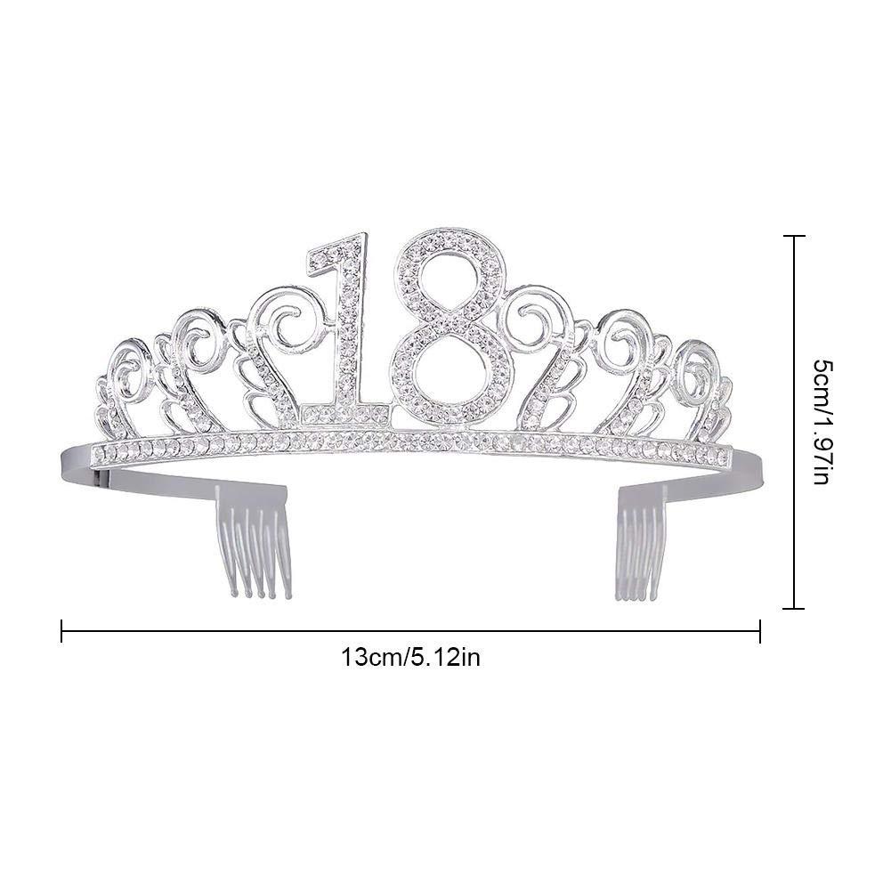 Conception du Peigne Le diad/ème est Flexible et Charmant Anniversaire Couronne Anniversaire 18 Ans,Strass Cristal Argent Tiare Diad/ème Princesse pour Princesse Parties