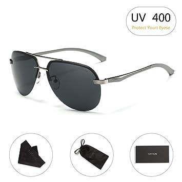 3627d7fc33 Aviator Sunglasses RAYSUN Aluminum Semi Rimless Polarized Vintage Sun  Glasses for Men Women UV 400 with Sun Glasses Case  Amazon.ca  Sports    Outdoors