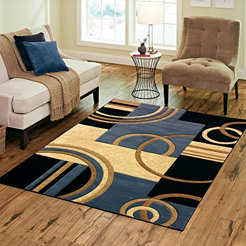 Golden Rugs Platinium Collection Hand Carved Area Rug Modern Contemporary (5'2