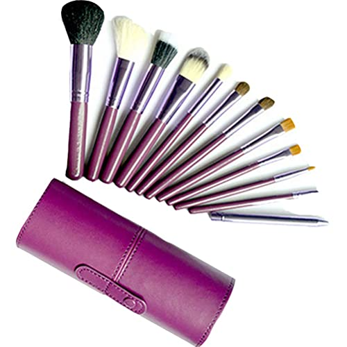 Zhhlaixing 12pcs Cylinder Trucco Cosmetic Set Brushes Powder Eyeshadow Lip Brush Tool