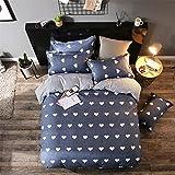GladsBuy Love Design Duvet Cover Pillowcase Flat Sheet 4pcs Sheet Set Queen Lightweight Soft Comfortable Durable Print Bedding Set BL010