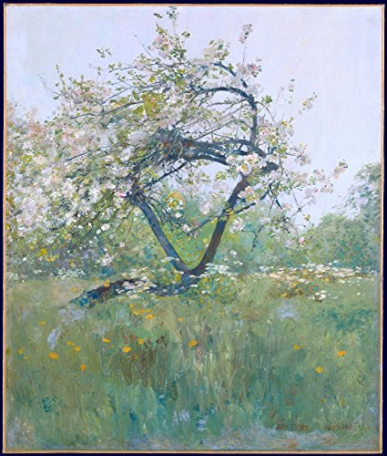 The Museum Outlet - Peach Blossoms - Villiers-le-Bel, 1887-89 - Canvas Print Online Buy (40 X 50 Inch)