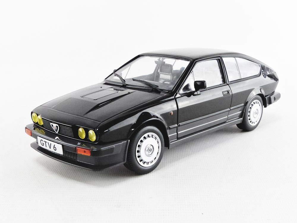 Coche en Miniatura de colecci/ón S1802302 Solido Alfa Romeo GTV6-BLACK METALLIC-1//18-S1802302 Color Negro
