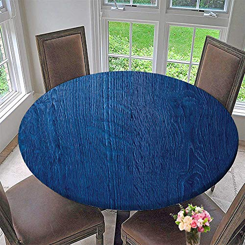 Mikihome Round Polyester Tablecloth Table Cover hoto of Oak Wood Texture Nature Style Vintageative Art Home 47.5