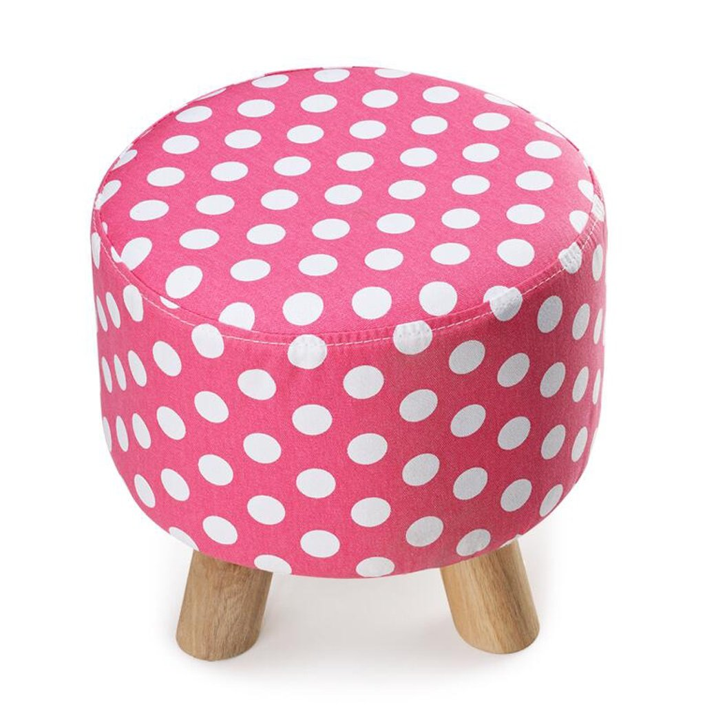 Silla Rollsnownow Pink Wave Point Round Footstool se Puede Lavar y Lavar Cambiar el Taburete del Zapato Taburete del sofá del paño