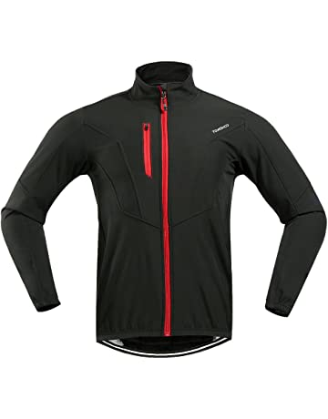 653764a3f TOMSHOO Cycling Clothing Suit Men s Winter Thermal Fleece Cycling Jacket  Outdoor Sport Long Sleeve Windproof Coat